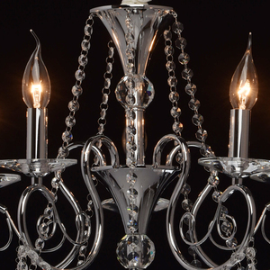 Lampa wisząca Adele Crystal 5 Chrom - 373011705 small 9