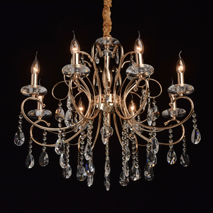 Lampa wisząca Adele Crystal 8 Złoty - 373012808 small 1