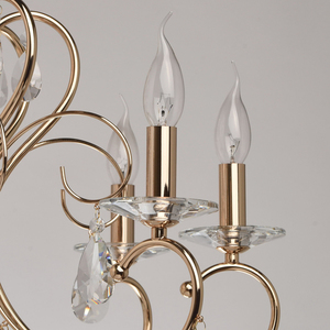 Lampa wisząca Adele Crystal 8 Złoty - 373012808 small 3
