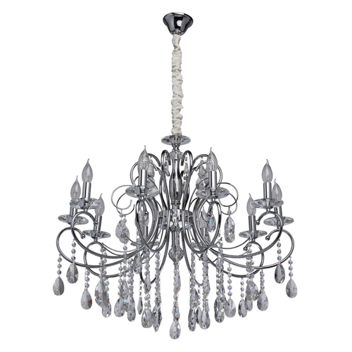 Lampa wisząca Adele Crystal 10 Chrom - 373013410