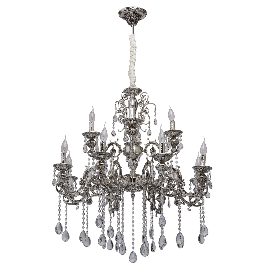Lampa wisząca Selena Classic 12 Srebrny - 482013812