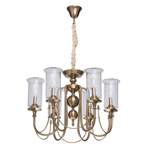 Lampa wisząca Amanda Classic 6 Mosiądz - 481012606