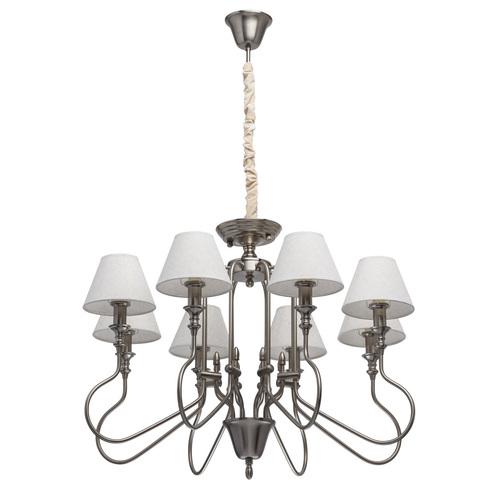 Lampa wisząca Consuelo Classic 8 Srebrny - 614011008