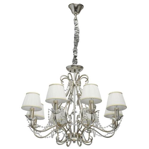 Lampa wisząca Valencia Elegance 8 Srebrny - 299011608
