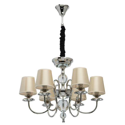 Lampa wisząca Sofia Elegance 6 Srebrny - 355013806