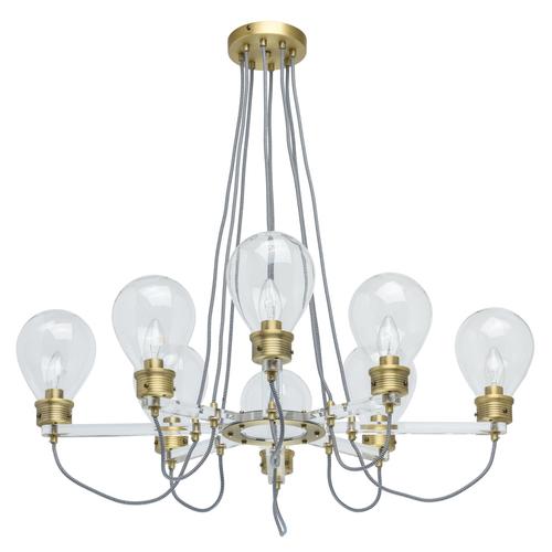 Lampa wisząca Hamburg Loft 8 Mosiądz - 699010708
