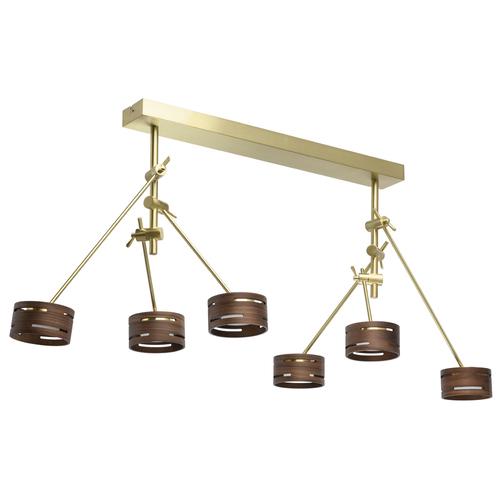 Lampa wisząca Chill-out Hi-Tech 6 Złoty - 725010406