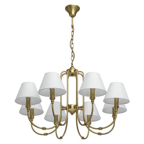 Lampa wisząca Consuelo Classic 8 Mosiądz - 614011908