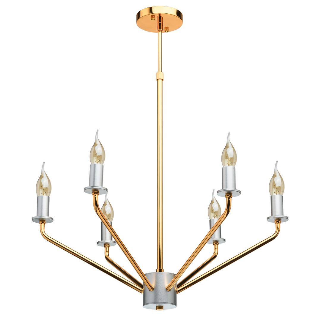 Lampa wisząca Hamburg Megapolis 6 Złoty - 699010906