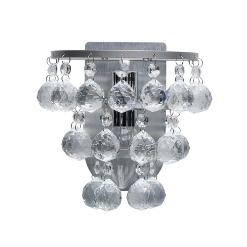Kinkiet Venezia Crystal 1 Srebrny - 276024801