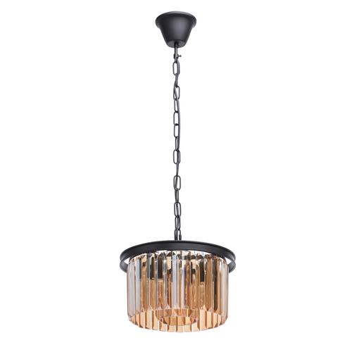 Lampa wisząca Goslar Crystal 3 Czarny - 498015203