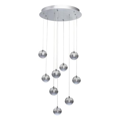 Lampa wisząca  Megapolis 9 Srebrny - 730010209