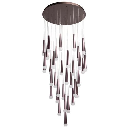 Lampa wisząca Flensburg Hi-Tech 230 Brązowy - 609014036
