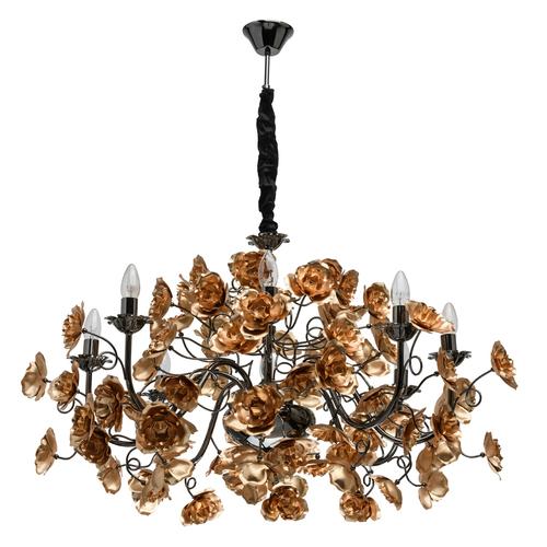 Żyrandol Rosenheim Flora 8 Złoty - 615011708
