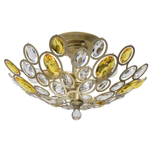 Lampa wisząca Laura Crystal 3 Złoty - 345012903