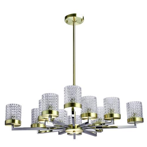 Lampa wisząca Hamburg Megapolis 12 Mosiądz - 605011912