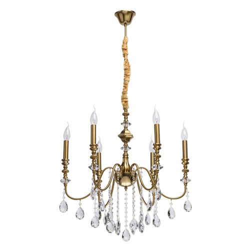 Lampa wisząca Consuelo Classic 6 Mosiądz - 614012506