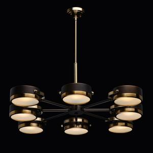 Lampa wisząca Hamburg Loft 8 Mosiądz - 605012308 small 1