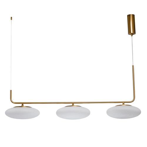 Lampa wisząca Auksis Hi-Tech 3 Złoty - 722010903