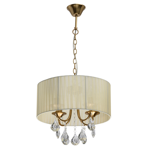 Lampa wisząca Jacqueline Elegance 4 Mosiądz - 465016504