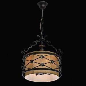 Lampa wisząca Magdalena Country 4 Brązowy - 669011304 small 1