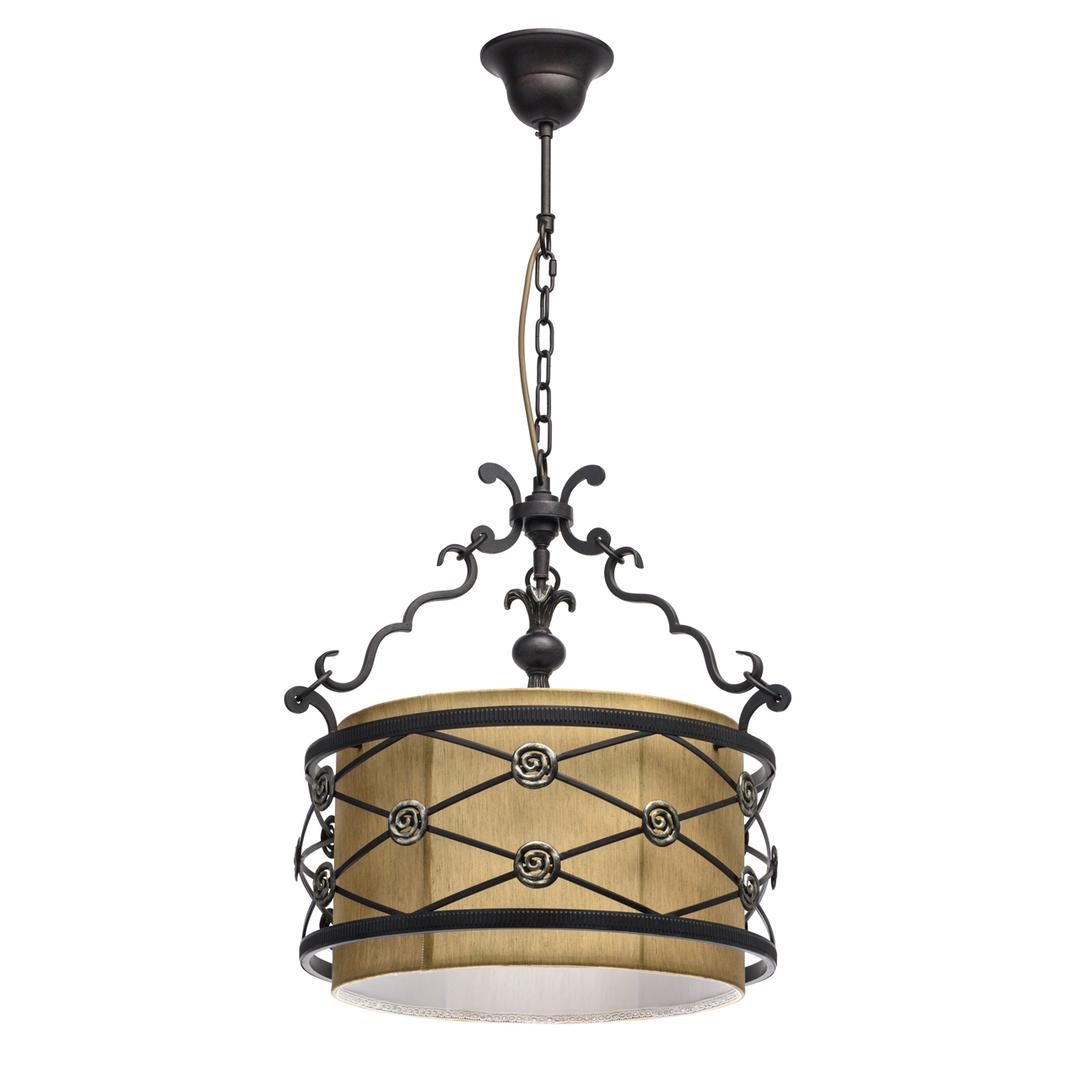 Lampa wisząca Magdalena Country 4 Brązowy - 669011304
