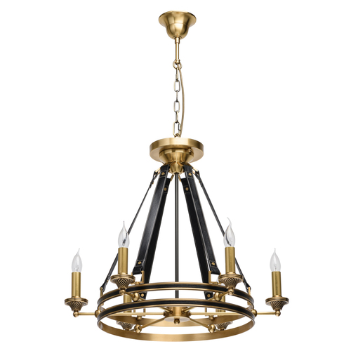 Lampa wisząca Bologna Country 6 Mosiądz - 639013106