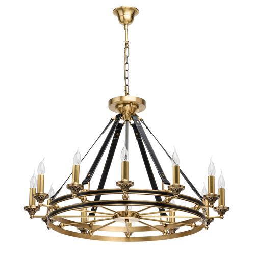 Lampa wisząca Bologna Country 12 Mosiądz - 639013212