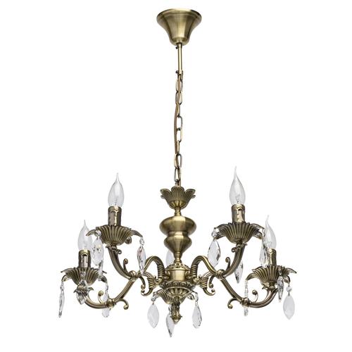 Lampa wisząca  Classic 5 Mosiądz - 371016305