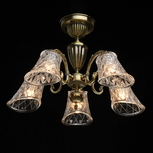 Lampa wisząca  Classic 5 Mosiądz - 450019105 small 1