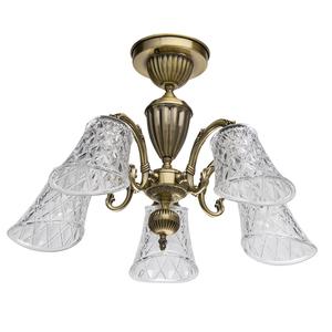 Lampa wisząca  Classic 5 Mosiądz - 450019105 small 0