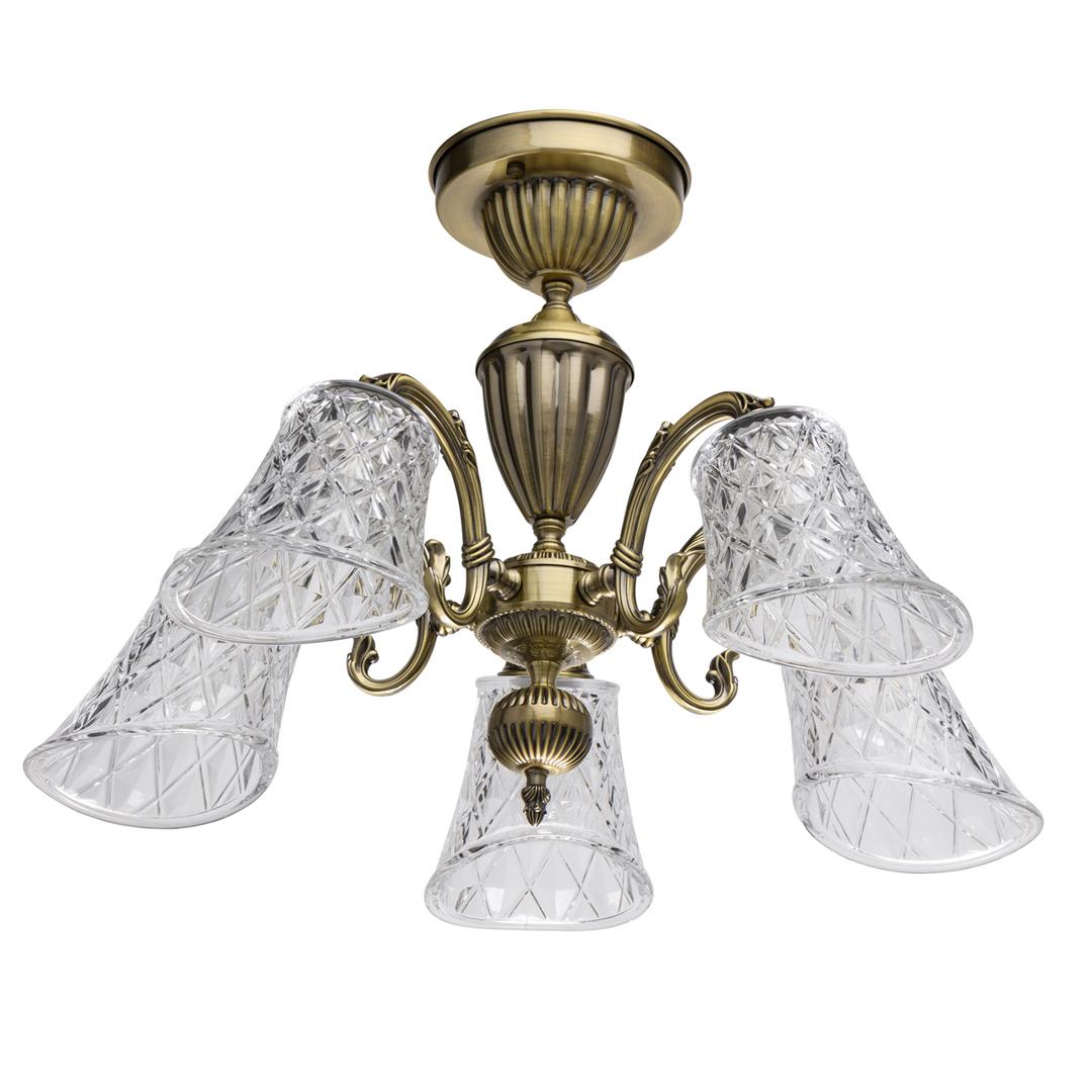 Lampa wisząca  Classic 5 Mosiądz - 450019105