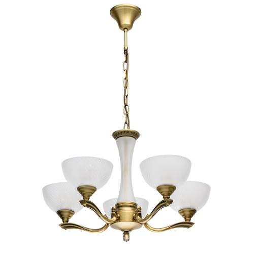 Lampa wisząca  Classic 5 Mosiądz - 317014705