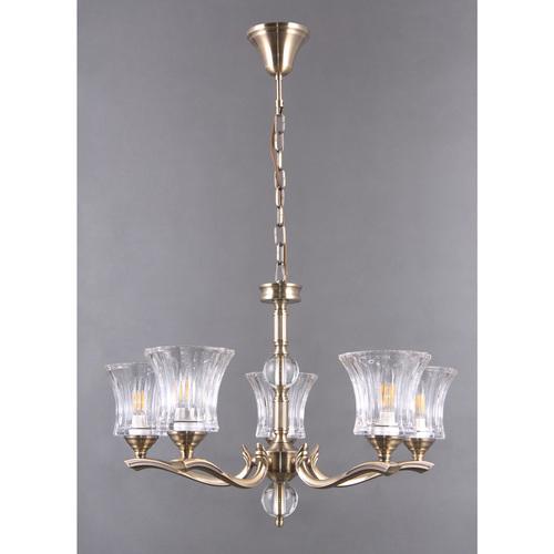 Lampa wisząca Amanda Classic 5 Mosiądz - 481013805