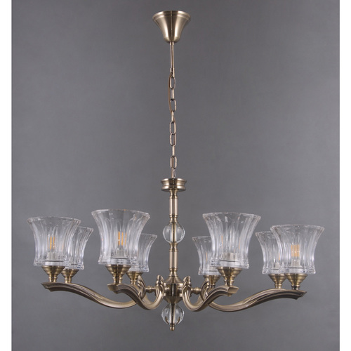 Lampa wisząca Amanda Classic 8 Mosiądz - 481013908