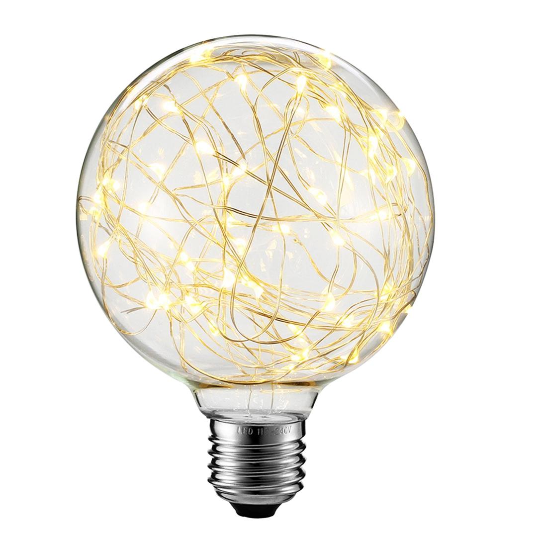 Żarówka Dekoracyjna LED Świetliki G80 E27 2W 230V Żółta