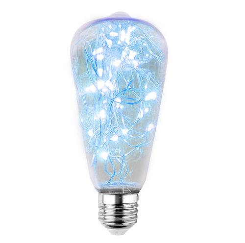 Żarówka Dekoracyjna LED Świetliki ST64 E27 2W 230V Niebieska