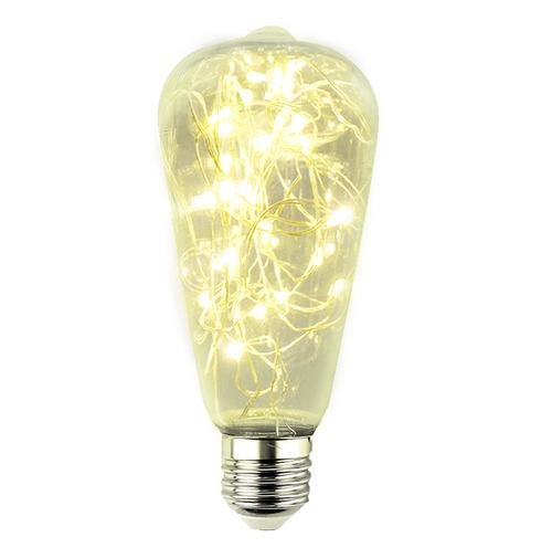 Żarówka Dekoracyjna LED Świetliki ST64 E27 2W 230V Żółta