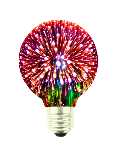 Żarówka Dekoracyjna LED Fajerwerki 3D G80 E27 4W 230V Czerwona