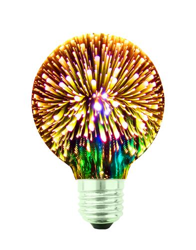 Żarówka Dekoracyjna LED Fajerwerki 3D G80 E27 4W 230V Złoty