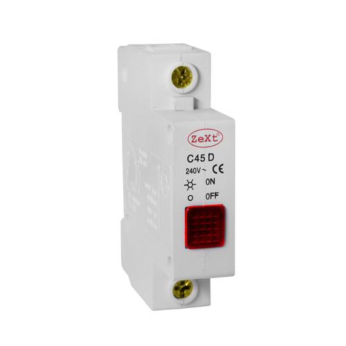 Lampka sygnalizacyjna C45D czerwona