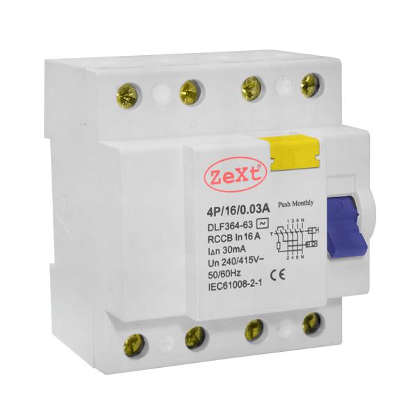 Wyłącznik różnicowo-prądowy DLF 4P 25A 100mA