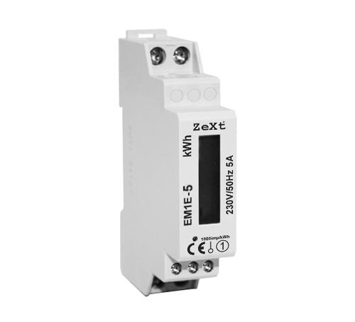1- fazowy licznik energii - 5A - LCD