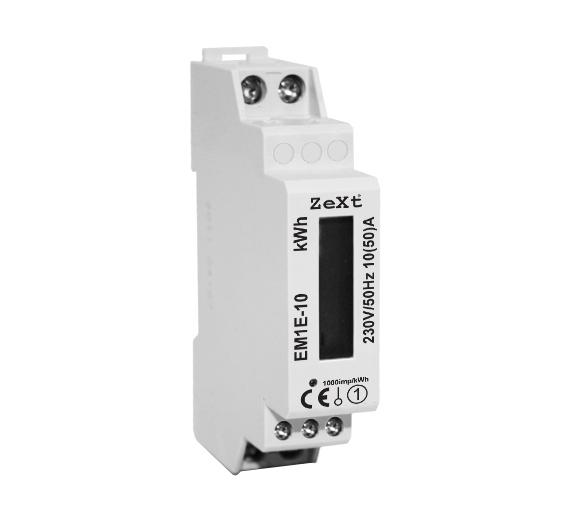 1- fazowy licznik energii - 10A - LCD