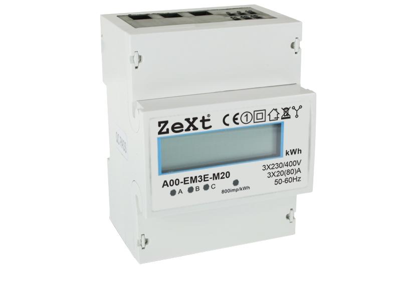 3- fazowy licznik energii - 10A - LCD