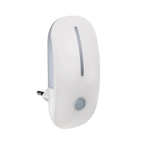 Biała lampka nocna LED z czujnikiem