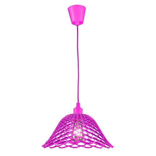 Lampa sufitowa Moderna K3 E27 60W różowa