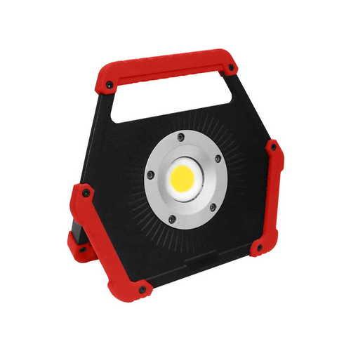 Naświetlacz LED na baterie 10W 6400K czerwony