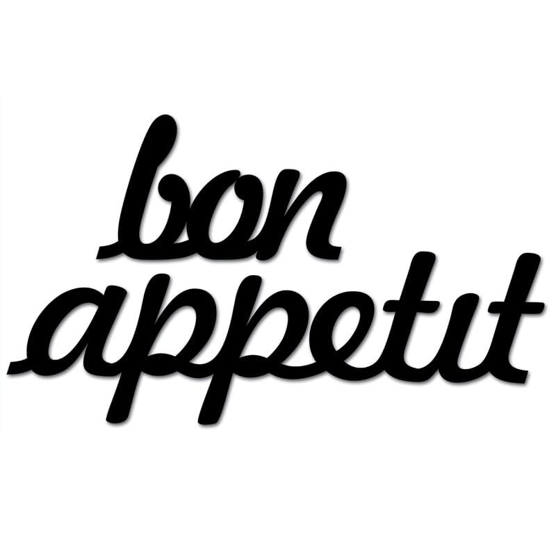 Napis na ścianę BON APPETIT czarny