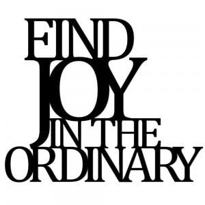 Napis na ścianę FIND JOY IN THE ORDINARY czarny